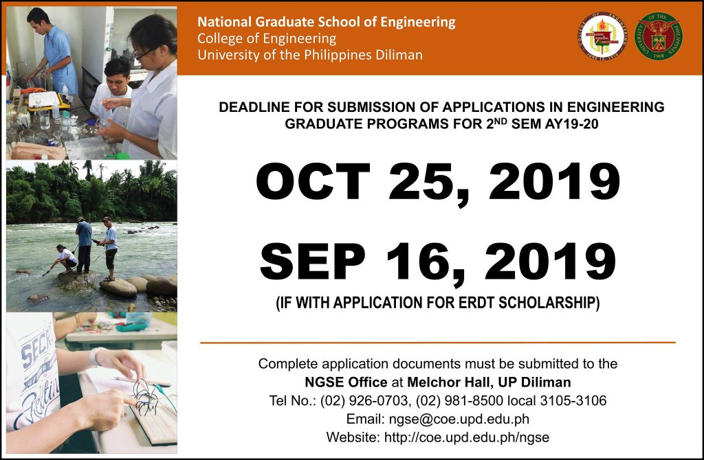 Graduate Admissions – UPD College of Engineering